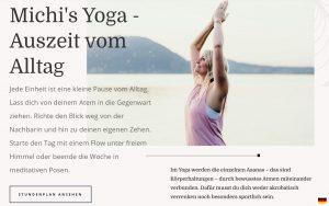 Texte Webseite Yogastudio Yoga Homepage Werbetexte Yoga